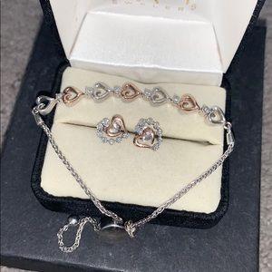 Kay Jewlers Bracelet and Earings set